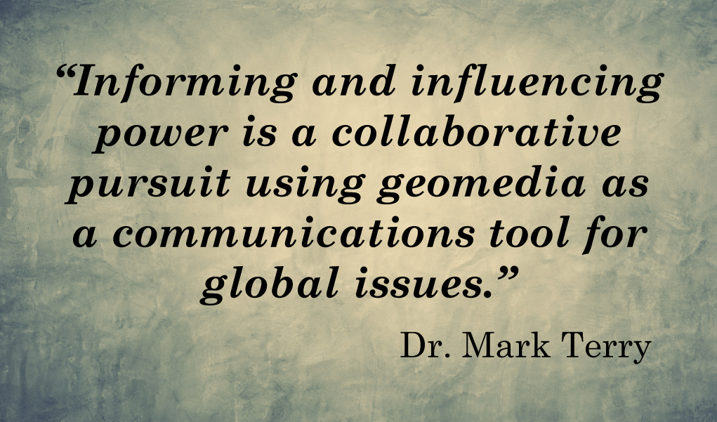 Quote about GIS Mapping by Mark Terry